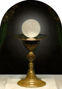 Chalice With Host Arched Magnet
