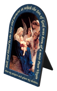 Song of the Angels Prayer Arched Desk Plaque