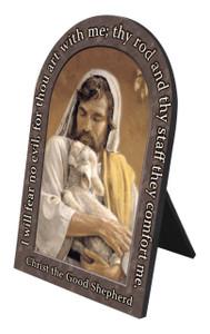 Christ the Good Shepherd Prayer Arched Desk Plaque