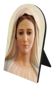 Our Lady of Medjugorje Arched Desk Plaque