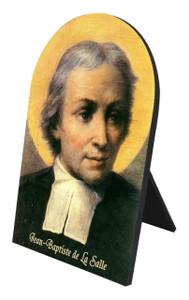 St. Jean Baptiste de La Salle Arched Desk Plaque