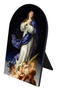 Immaculate Conception USA Arched Desk Plaque