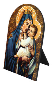 Our Lady of Mt. Carmel Arched Desk Plaque