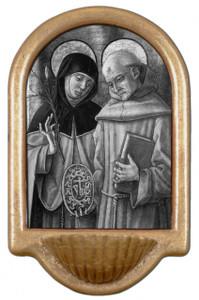 Sts. Catherine & Bernardino Holy Water Font