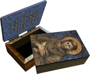 St. Francis of Assisi Keepsake Box