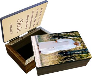 St. John Paul II Walking Rosary Keepsake Box