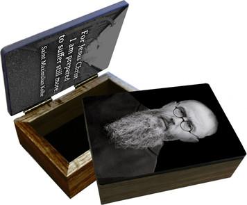 St. Maximilian Kolbe Portrait Keepsake Box