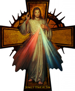 Divine Mercy Wall Plaque Cross