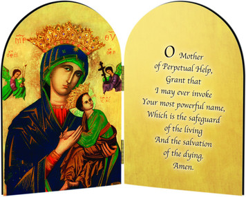 Our Lady of Perpetual Help Arched Diptych