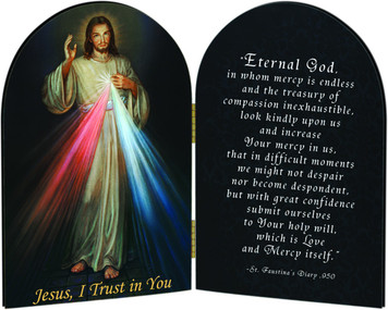 Divine Mercy Arched Diptych