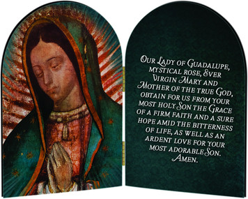 Our Lady of Guadalupe Detail Arched Diptych