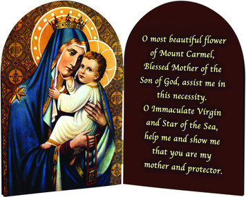 Our Lady of Mt. Carmel Arched Diptych