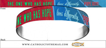 The One Who Has Hope Lives Differently Red and Blue Bracelet