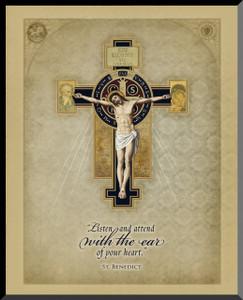 Benedictine Cross Graphic Wall Plaque