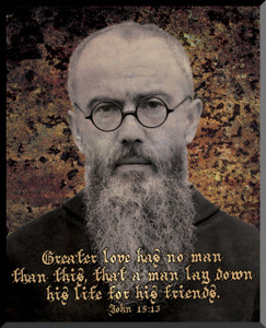 St. Maximilian Kolbe Graphic Wall Plaque