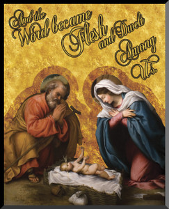 Nativity Graphic Wall Plaque