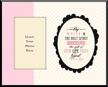 Gift of New Life Baptism Pink Picture Wall Plaque