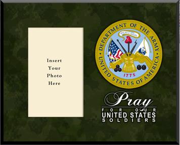 Army Plaque Photo Frame