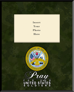 Army Plaque Vertical Picture Frame (Insert Your Photo)