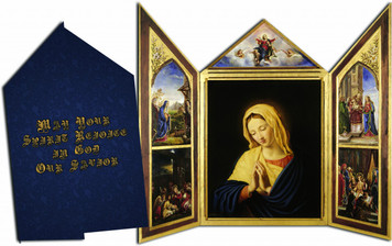 May Your Spirit Rejoice in God Our Savior' Tri-fold Christmas Cards