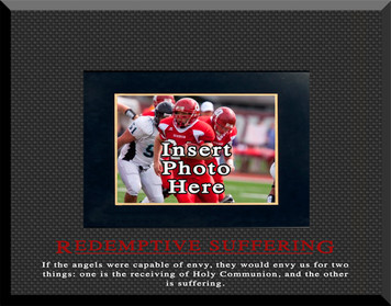 """""""Redemptive Suffering"""" Picture Frame"""