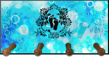 Life is Precious (blue) Keychain Holder