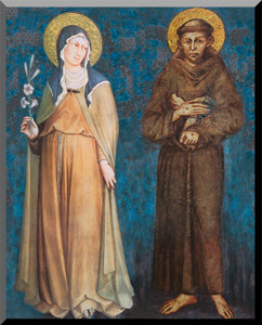 Sts. Francis and Clare Wall Plaque