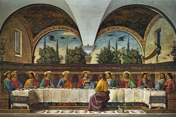 Last Supper by Ghirlandaio Postcard