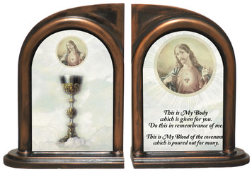 Chalice, Sacred Heart Bookends