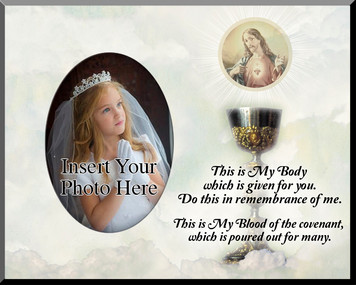 Eucharist with Sacred Heart Photo Frame