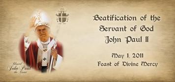 Bl. John Paul II Commemorative Beatification Mug