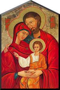 Holy Family Icon Wall Plaque