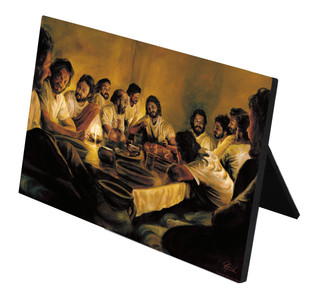 Last Supper Horizontal Desk Plaque