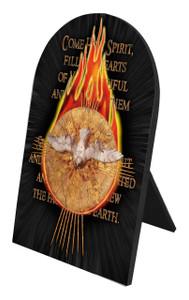 Holy Spirit Arched Desk Plaque