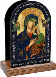 Our Lady of Perpetual Prayer Help Table Organizer (Vertical)