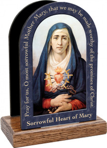 Our Lady of Sorrows Prayer Table Organizer (Vertical)