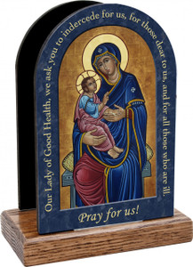 Our Lady of Good Health Prayer Table Organizer (Vertical)