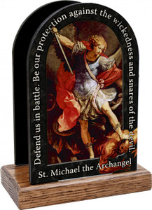 St. Michael the Archangels Prayer Table Organizer (Vertical)