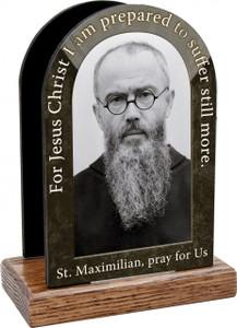 St. Maximilian Kolbe Prayer Table Organizer (Vertical)