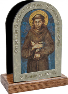 St. Francis of Assisi II Prayer Table Organizer (Vertical)