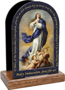 Immaculate Conception Prayer Table Organizer (Vertical)