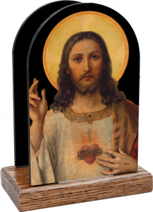 Antique Sacred Heart Table Organizer (Vertical)