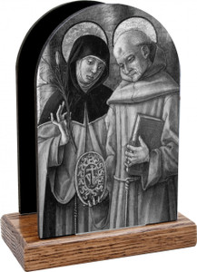 Sts. Catherine and Bernardino Table Organizer (Vertical)