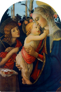 Virgin and her Child Arched Magnet