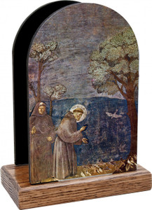St. Francis with Birds Table Organizer (Vertical)