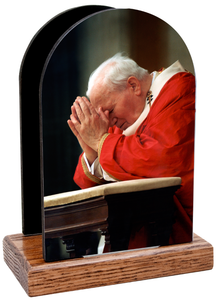 Saint John Paul the Great Kneeling Table Organizer (Vertical)