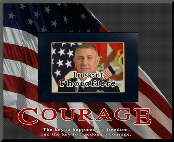 """""""Courage"""" Picture Frame"""