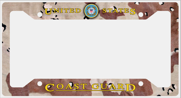 Coast Guard Plate Frame