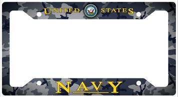 Navy Plate Frame