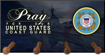 Pray for our Coast Guard Keychain Holder